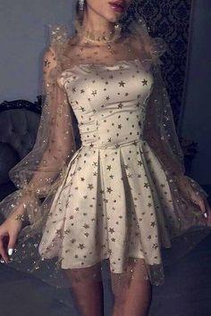 Long Sleeve Homecoming Dresses, A Line Prom Dresses, Event Dresses, Junior Dresses, Short Party Dresses, Fancy Dress Short, Vintage Homecoming Dresses, Very Short Dress, Grey Long Sleeve Dress