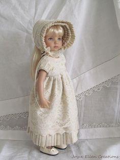 """13"""" Effner Little Darling BJD fashion Ivory lace Regency OOAK handmade by JEC #JoyceEllenCreations"""