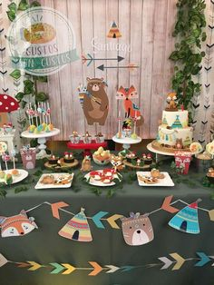 Gustos SON Gustos's Birthday / Woodland tribal - Photo Gallery at Catch My Party Ideas Bautismo, Baby Boy 1st Birthday Party, Birthday Cakes, Tribal Baby Shower, Girls Party Decorations, Animal Birthday, Woodland Party, Animal Party, Party Ideas