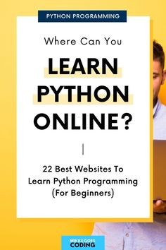 So you want to learn Python programming for beginners - fast? Then check out these top websites and resources to learn Python coding from beginner-friendly tutorials, books, online courses, and more. Learn the basics and start building small coding projects on your own step-by-step. Happy coding! #mikkegoes #python #programming #coding #learntocode #education #learning #technology #tech Learning Skills, Skills To Learn, Learn To Code, Learning Resources, Machine Learning, Online Coding Courses, Learn Coding Online, Best Online Courses, Learn Programming