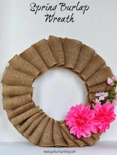 {Late} Spring / {Early} Summer Burlap Wreath - Just Us Four