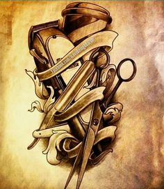 stunning barber shop drawing helpsite us - barber drawings Barber Poster, Barber Logo, Barber Tattoo, Hairdresser Tattoos, Hairstylist Tattoos, Body Art Tattoos, Tatoos, Barber Equipment, Barber Shop Decor