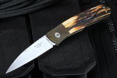 W.D. Pease Premium Stag Warncliff Folding Knife