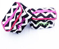 chevron cosmetic bag cosmetic bag personalized by Baileywicks, $14.00