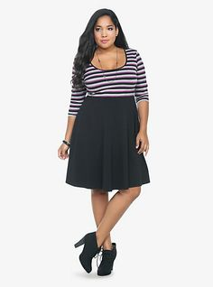 Striped Knit Dress | Torrid