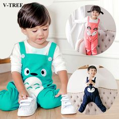 >> Click to Buy << V-TREE Kids Overalls Cartoon Jumpsuit For Boys Girls Cotton Bib Overalls Toddlers Ski Clothes #Affiliate