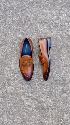 df8c8d17df2 Cognac leather loafers from  s gents perfect for the summer  shoes  loafers   footwear · Mens ...