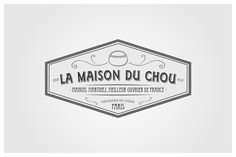 """We were asked to develop the image of the brand """"la maison du chou"""". we designed the logo, the typography and the packaging. This project was a great challenge, we had to create a traditional french pastries brand. Like the vintage parisian brands in 1920…"""