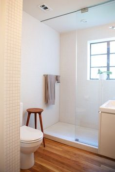 Sliding glass doors for downstairs bath?  (apartment therapy.com; Heather and Katherine's Remodel: 2012_08_06-heather_katherine_duplex_nation_home_tour_2066_rect640)