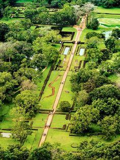 Gardens at Sigiriya, Sri Lanka
