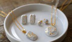 DIY Minimalist Concrete Jewelry  - Darby Smart
