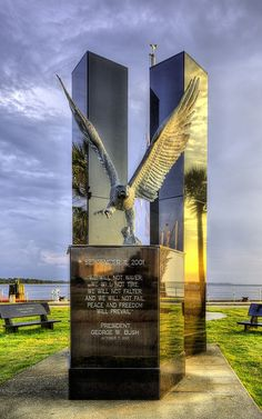 September 11 Memorial Canvas Print / Canvas Art by JC Findley World Trade Towers, World Trade Center Nyc, Remembering September 11th, 11. September, 911 Never Forget, Panama City Florida, I Love America, New York, Monuments
