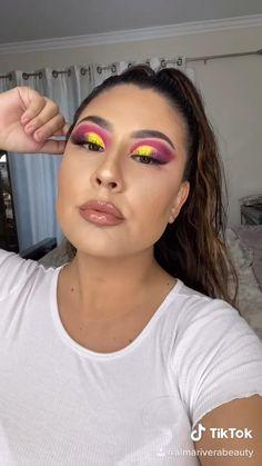Party Eye Makeup, Eye Makeup Art, Glam Makeup, Colorful Eyeshadow, Colorful Makeup, Fire Makeup, Makeup Pictorial, Eye Makeup Designs, Makeup Makeover