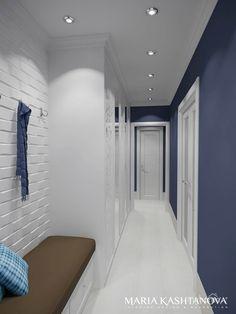 Дизайн интерьера прихожей и коридоров. Коридор; Холл