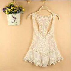 Image of [grlhx160214 zxy]Nice Lace Vest overall