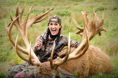 Badass!  Melissa-Bachman-Red-Stag largest redstag taken with a bow by a women!!! Love her!