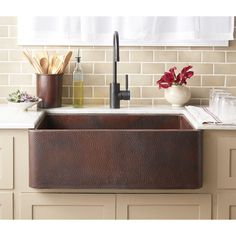 Native Trails x Farmhouse Kitchen Sink – Antique Copper – Farmhouse Sink Ideas Copper Farmhouse Sinks, Farmhouse Sink Kitchen, Farm Sink, Copper Kitchen, Kitchen Sinks, Copper Sinks, Rustic Farmhouse, Copper Apron Sink, Farmhouse Ideas