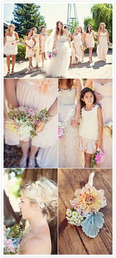 blush/peach bridesmaid dresses