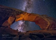 Comtemplation  Skyline Arch Arches National Park Utah USA  Camera: NIKON D810A Lens: 14.0-24.0 mm f/2.8  Follow on Instagram: http://ift.tt/2drRvK7 Website: http://ift.tt/1qPHad3 and read how to see the Milky Way. Image credit: http://ift.tt/2e3LyHb  #MilkyWay #Galaxy #Stars #Nightscape #Astrophotography #Astronomy