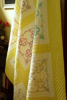 Cross Stitch Quilt . . . a quilt I have for sale on Etsy