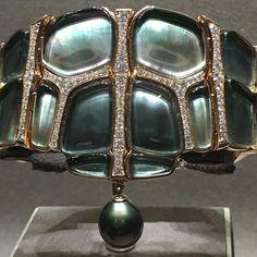 WW !! Tahitian mother of pearl; diamonds set in rose gold @hermes via @thesandralane