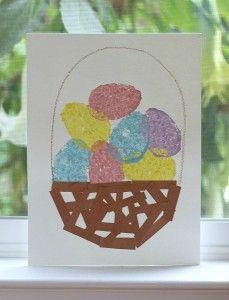 Easter Crafts for Kids: Sponge Painted Easter Eggs & Basket