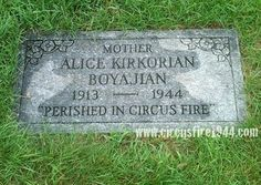 Boyajian, Alice - The Hartford Circus Fire ~ July 6, 1944