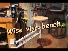 """HiThis instructable introduces my """"wise vise bench"""".Simply, its a swivel stool mounted to vise leg. Wise part is, that it can be used as a stool, but also..."""