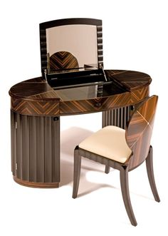 Contemporary Art Deco style Carrington Dressing Table by Shilou Furniture