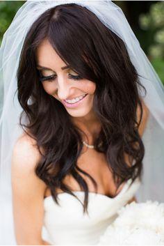 gorgeous bride and veil via StyleUnveiled.com / Santa Barbara Real Wedding / Meghan Christine Photography