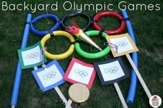 The Olympic games are coming! Play these Backyard Olympic Games with your friends and family. Olympic Games For Kids, Olympic Idea, Kids Olympics, Summer Olympics, 2020 Olympics, Olympic Crafts, Summer Reading Program, Sports Day, Field Day