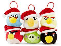 Enfeites de Natal do Angry Birds