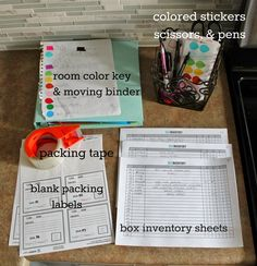 Staying Organized On Moving Day - with updated printable and labels!