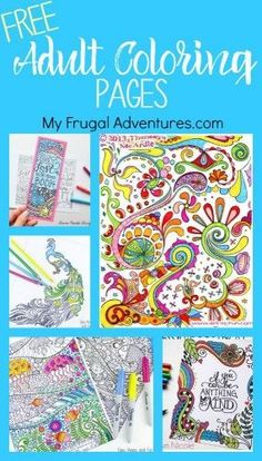 Free Printable adult coloring pages- these are so relaxing and so fun!