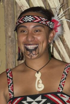 The Maori tribe of New Zealand has practiced facial tattooing for thousands of years. Men typically tattoo their entire face, while women flaunted blue lips and chin tattoos as a sign of beauty.
