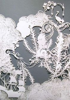 Is this cut paper art?  Very cool.  As Long As Tomorrow, Emma van Leest