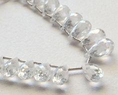 AAA Cubic Zirconia Clear Crystal Zirconia Bead by gemsforjewels