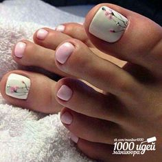 We found the Best Toe Nail Art! Below are 53 Best Toe Nail Art Designs for The polished toes a Pink Pedicure, Pedicure Nail Art, Pedicure Designs, Toe Nail Designs, Toe Nail Art, Art Designs, White Toenail Designs, Toe Nail Polish, Flower Designs