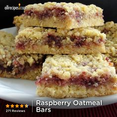 """Raspberry Oatmeal Bars 