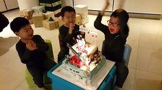 Happy birthday my tripletss!!! 아이들 생일날 지방촬영으로 같이 못 있어서(T.T) 미리 한 생일파티~^^; #대한민국만세 #songtriplets