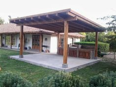 Simple roofed patio cover. http:// Proudlandlandscape.com/covered_patios_decks.html