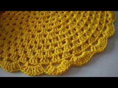 ✨Sousplat de crochê bonito, fácil e delicado - Passo a passo para iniciantes | toalhinha - YouTube