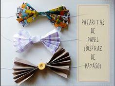 Pajaritas de papel fáciles para fiesta o disfraz de payaso
