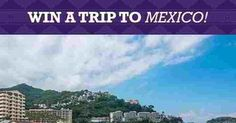 S&W Beans has a chance for you to enter once to win a vacation for two to Mexico and $500 CASH or a $50 gift card along with 3 cans of S&W Beans food product! Entering is easy. Just pin one… Win A Vacation, Win A Trip, Bean Tacos, Bean Recipes, Mexico Travel, Beans, Night, Food, Essen