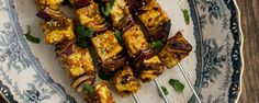 Grilled Vegan Coconut Curry Tofu Skewers   Frontier Grilling