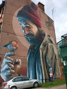 Glasgow street art this mural is by graffiti artist Sam Bates (aka Smug) this is part of the Glasgow City Centre Mural Trail which began in 3d Street Art, Street Art Graffiti, Urban Street Art, Graffiti Murals, Murals Street Art, Amazing Street Art, Art Mural, Street Artists, Graffiti Artists