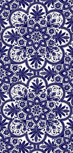 Navy floral background