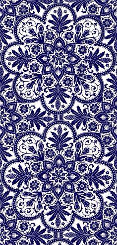 Navy floral background