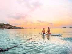 Sunset paddle sessions