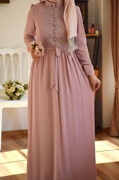Islamic Fashion, Muslim Fashion, Modest Fashion, Fashion Dresses, Modest Outfits, Casual Dresses, Mode Turban, Dress Pesta, Niqab Fashion